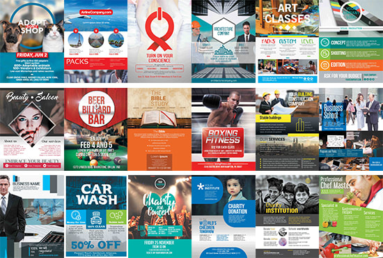 Give you 70 flyer templates in powerpoint and photoshop by Alynna - powerpoint flyer template
