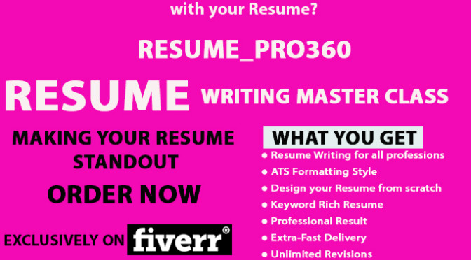 Write, rewrite or design a perfect RESUME Cv and cover letter your