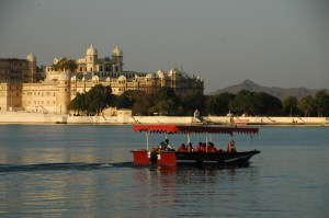 On the royal lake in Udaipur.