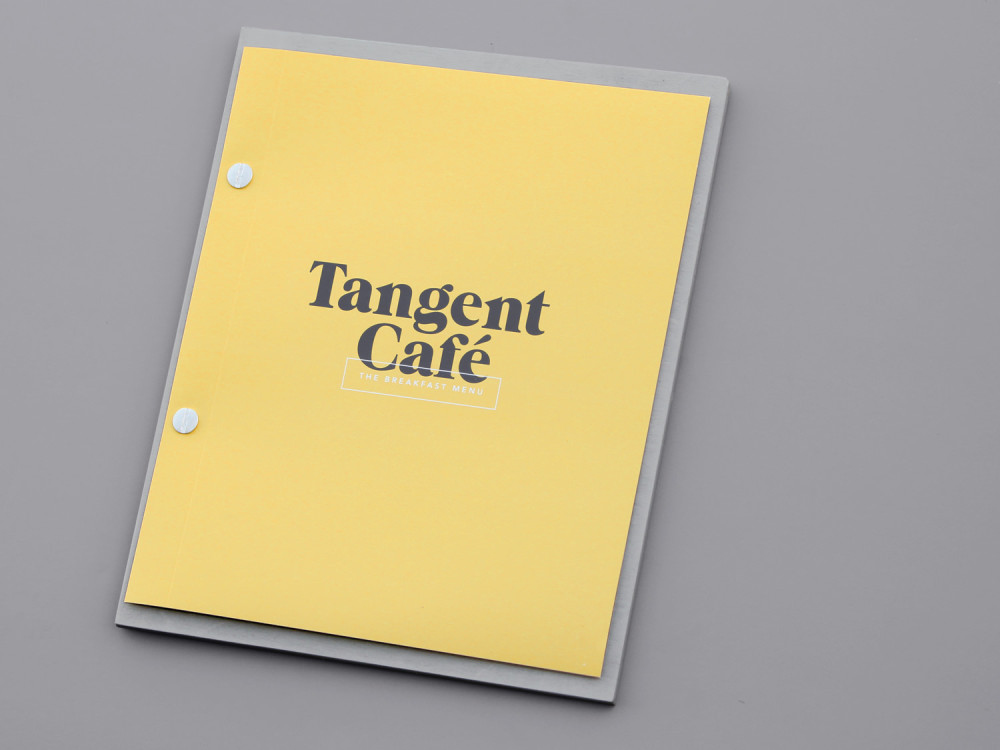 Tangent Café Branding, Environment, Print Fivethousand Fingers - notebook paper word template