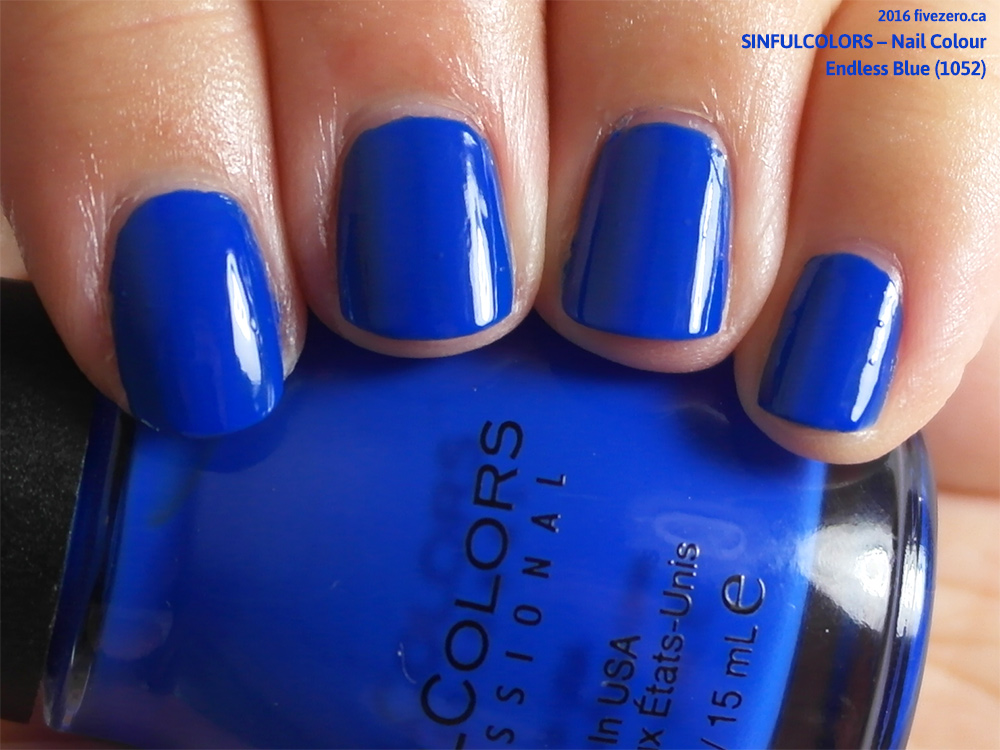 Sinfulcolors Endless Blue Nail Colour Swatch Review