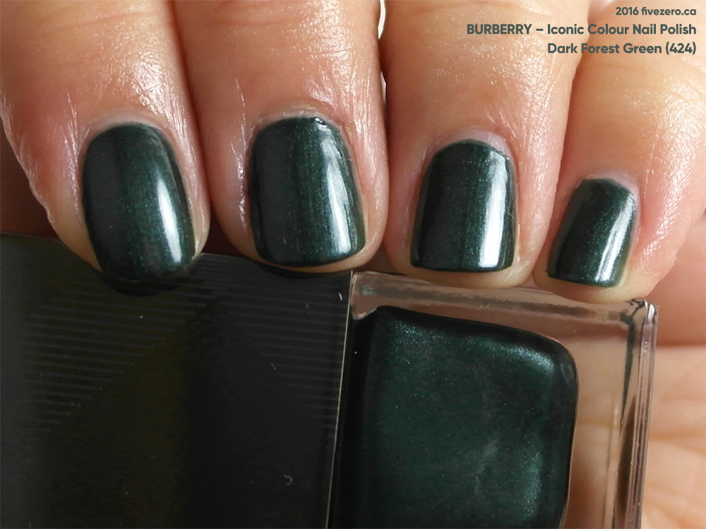Burberry Dark Forest Green Iconic Colour Nail Polish