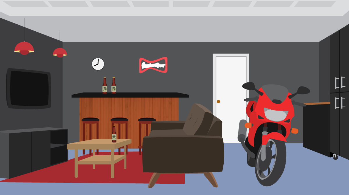 Garage Conversion Man Cave Plan Your Mancave Layout Fix