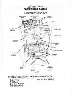 Whirlpool / Kenmore Calypso Washer Component Access Diagram (click to ...