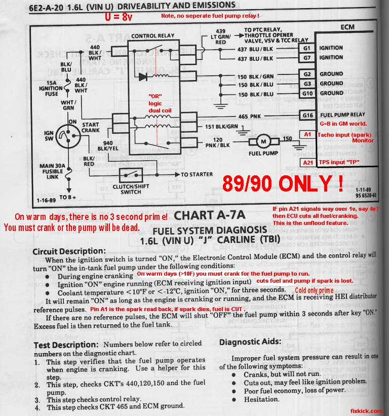 95 Toyota Corolla Fuel Pump Wire Harness Schematic Diagram