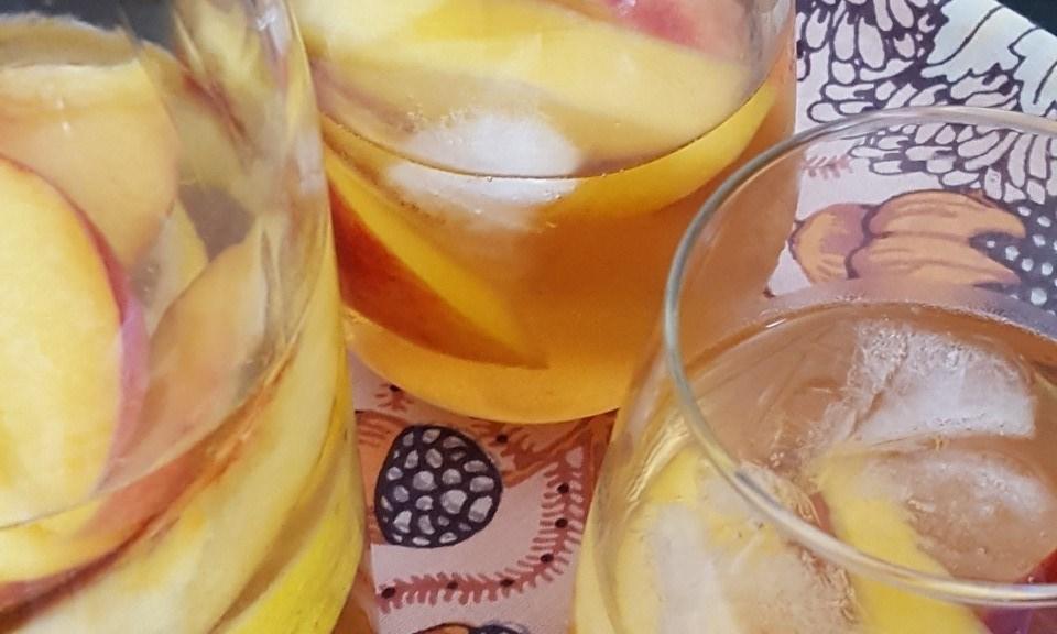 Peach Sangria up close