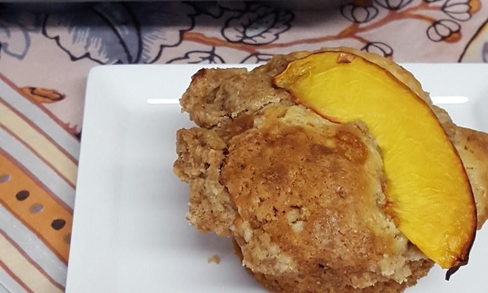 nectarine coffee cake muffin2