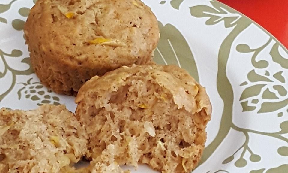 zucchini coconut cashew muffins inside