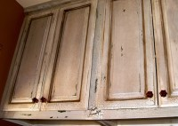 Are rub-through distress marks on cabinets are overdone ...