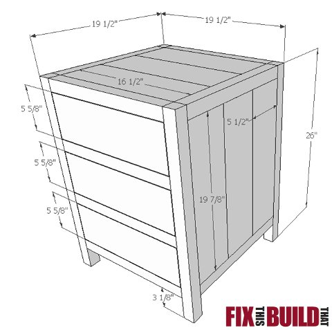 DIY 3 Drawer Nightstand Plans Fix This Build That