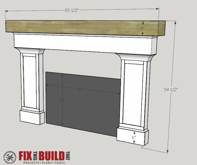 How to Build a Fireplace Surround and Mantel