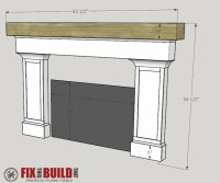 How to Build a Fireplace Surround and Mantel ...