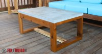 DIY Concrete Top Outdoor Coffee Table | FixThisBuildThat