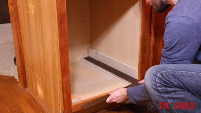 L Shaped Kitchen Base Cabinet Diy Pull Out Trash Can | Fixthisbuildthat