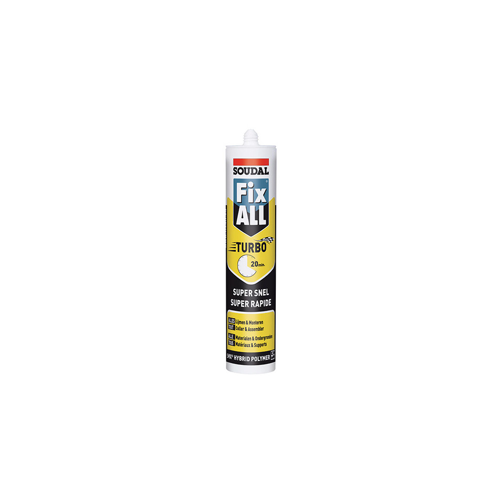 Mastic De Maçonnerie Extérieur Mastic Colle Fix All Turbo 290 Ml Blanc 121923 Soudal