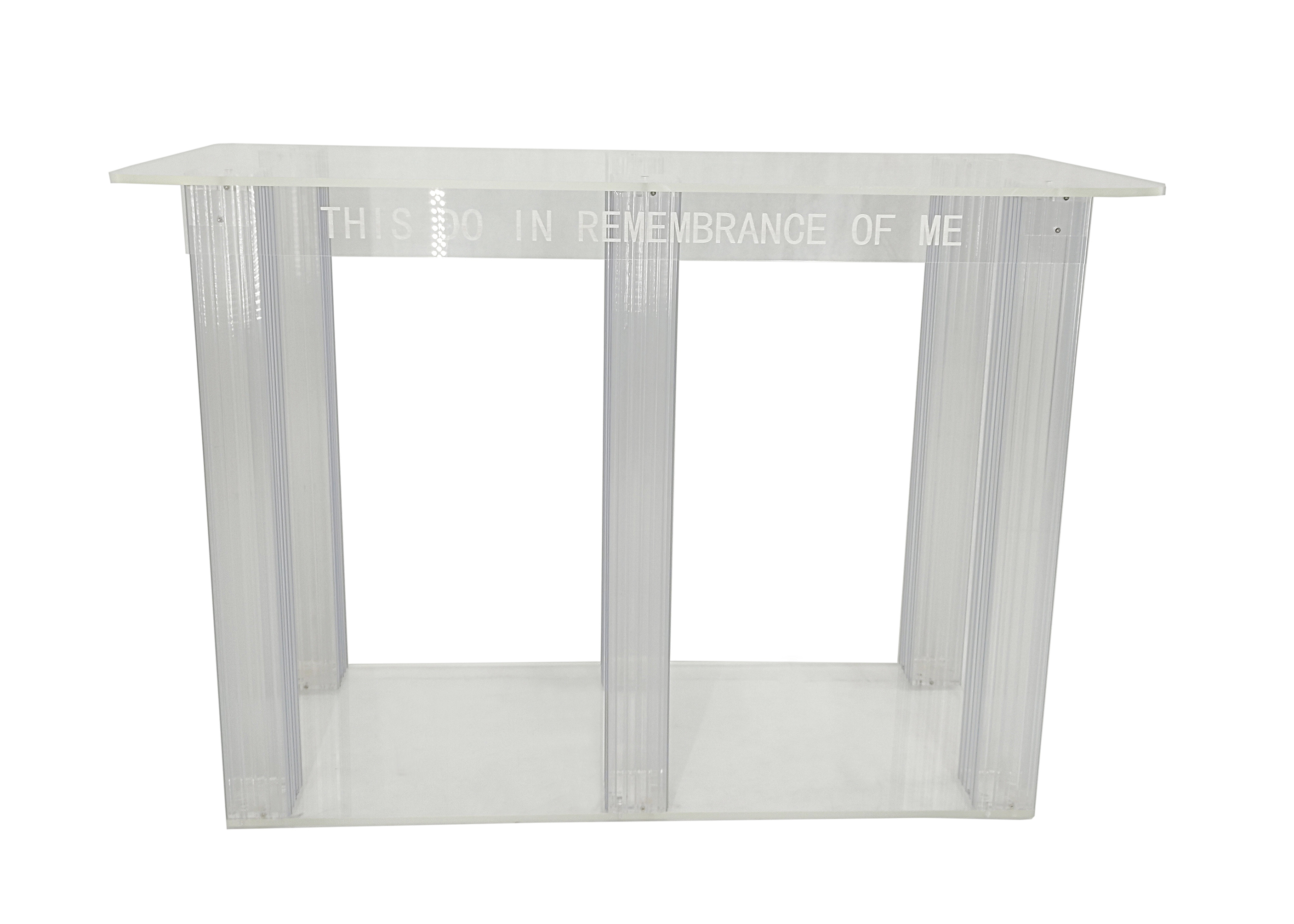 Table Transparente Plexiglass Details About Clear Acrylic Plexiglass Church Communion Table Desk 11461 Glue Version