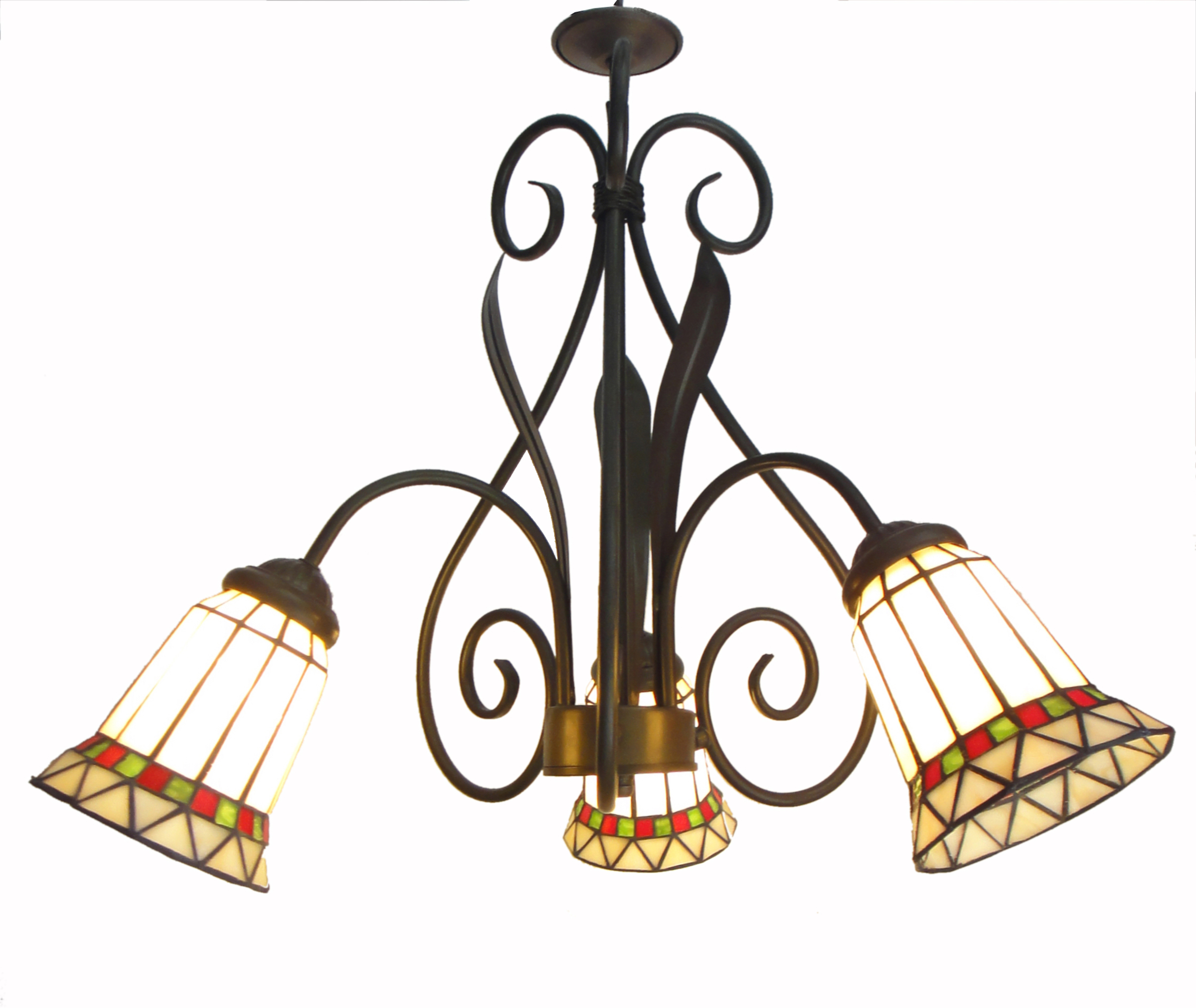 Glass Lamp Ceiling Details About Tiffany Chandelier Stained Glass Lamp Ceiling Pendant Light Fixture Wrought Iron