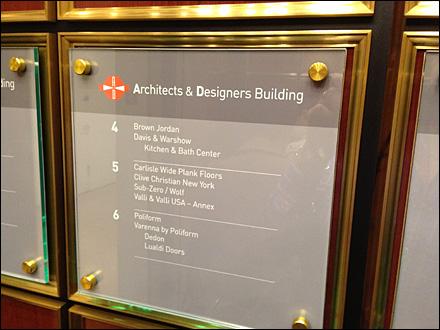 Elevator Wayfaring Sign Holders Fixtures Close Up