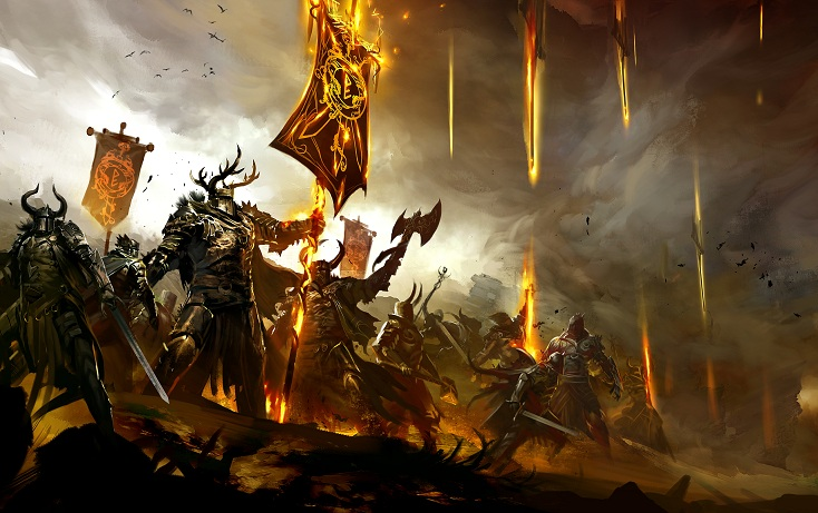 Bilder Poster Online Guild Wars 2 Shadow Of The Mad King Halloween Event Starts