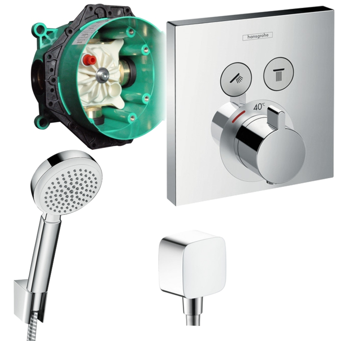 Hansgrohe Armaturen Unterputz Hansgrohe Shower Select Unterputz Thermostat