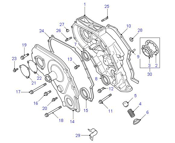 LAND ROVER DISCOVERY 300TDI ENGINE DIAGRAM WATER PUMP - Auto