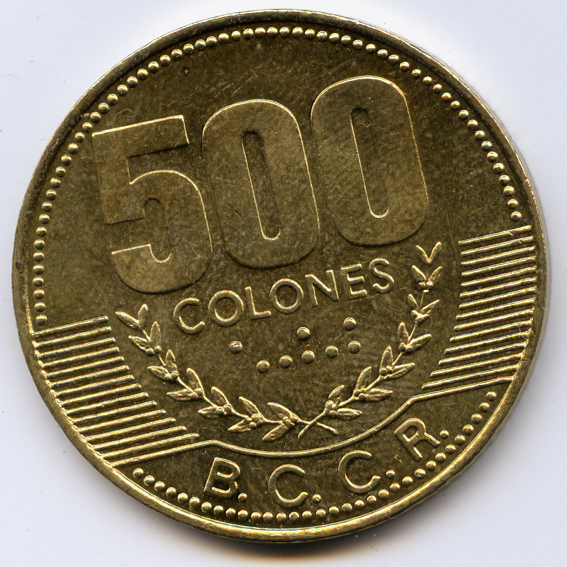 100 Euro Dinar Costa Ricaanse Colon Valuta Nationale Vlaggen