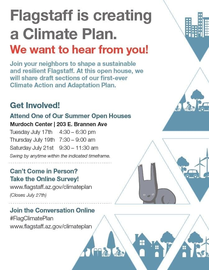 Flagstaff Climate Action and Adaption Plan Open House - Flagstaff