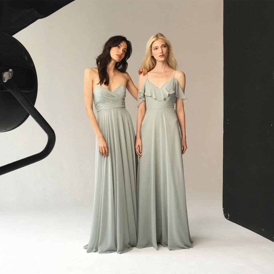 Smothery Obsessed This Muted Sage Green Grey Color From Jenny Dress Colors Flair Boston Bridal Bridesmaid Sage Green Bridesmaid Dresses Australia Sage Green Bridesmaid Dresses Uk wedding dress Sage Green Bridesmaid Dress