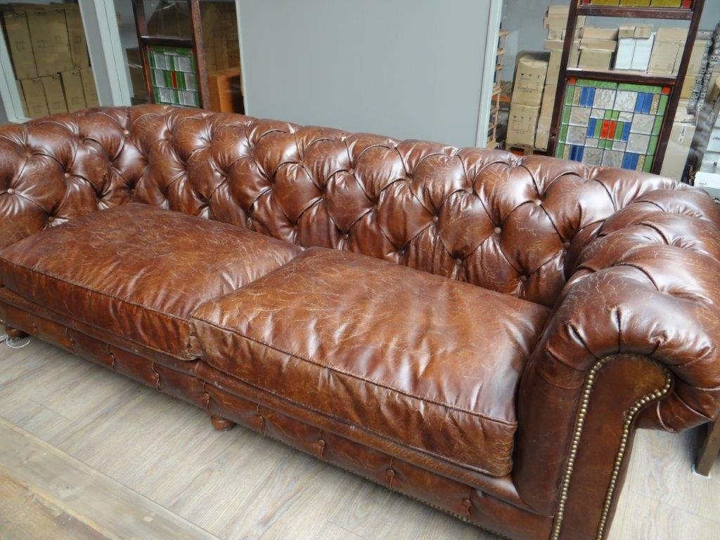"Ledersessel Büro Chesterfield Ledersofa ""kensington"", 3-sitzer - Flair"