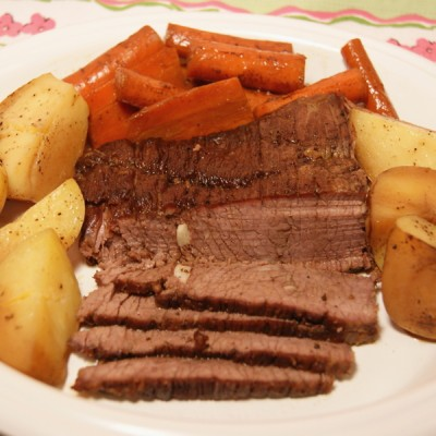 Classic Oven Roasted Brisket | Flamingo Musings