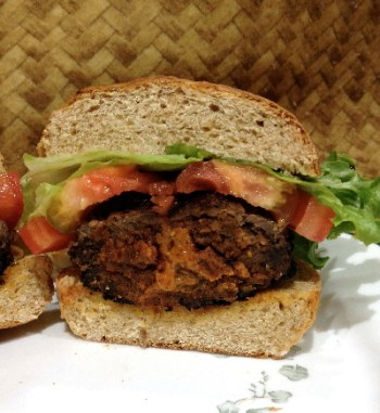 Spicy Peanut Butter Burger | Flamingo Musings