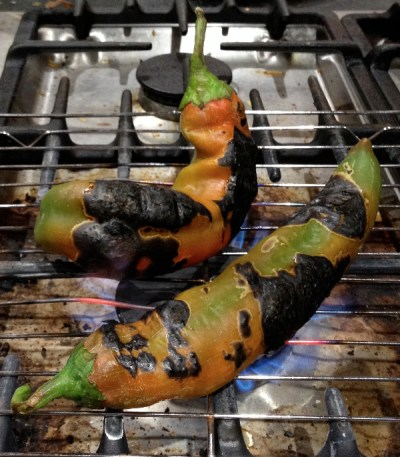 Roasting Hatch Chiles
