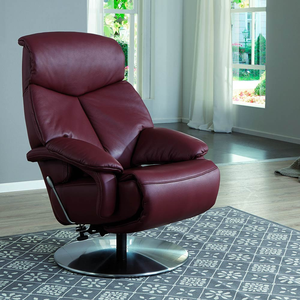 Hollywood Sessel Relaxsessel Hollywood In Leder Bordeaux Rot