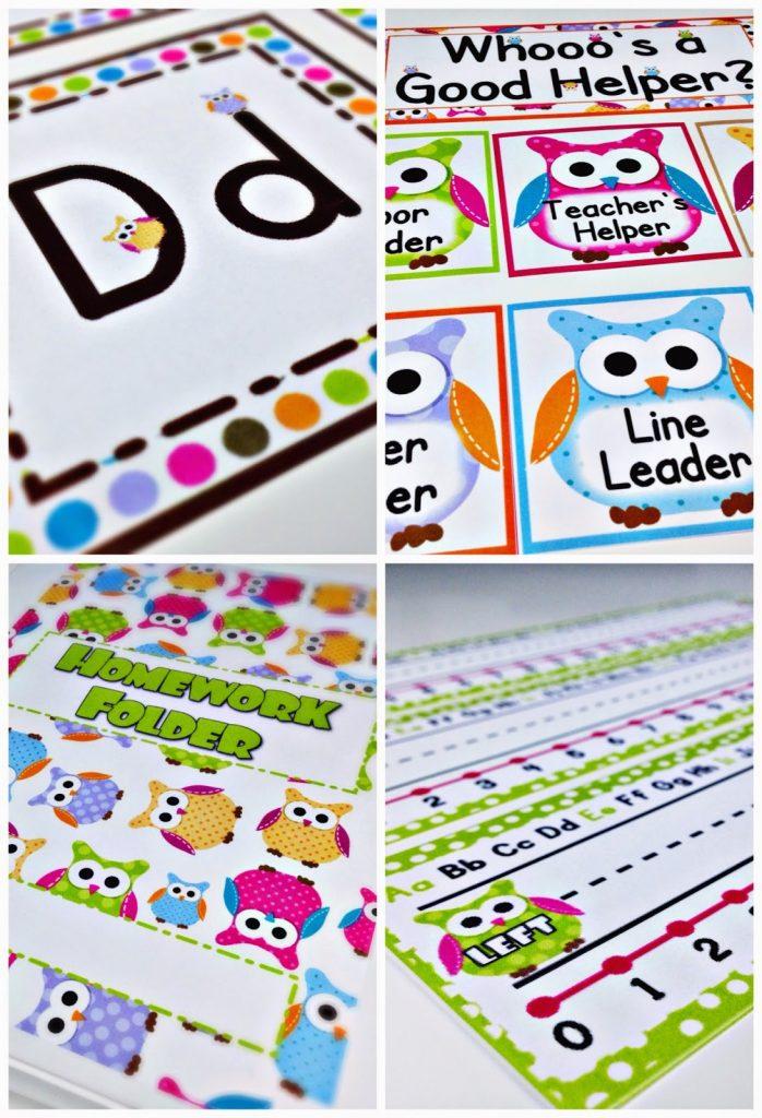 Lots of OWLS Classroom Theme Freebies, Ideas,  Pack - FlapJack