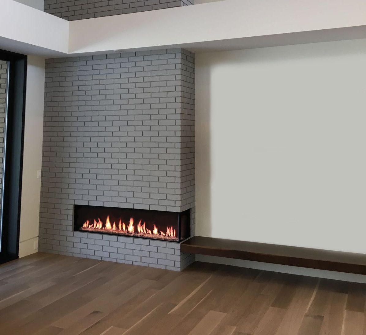Modern Fireplaces Flare Right Corner Modern Fireplace Linear Fireplace