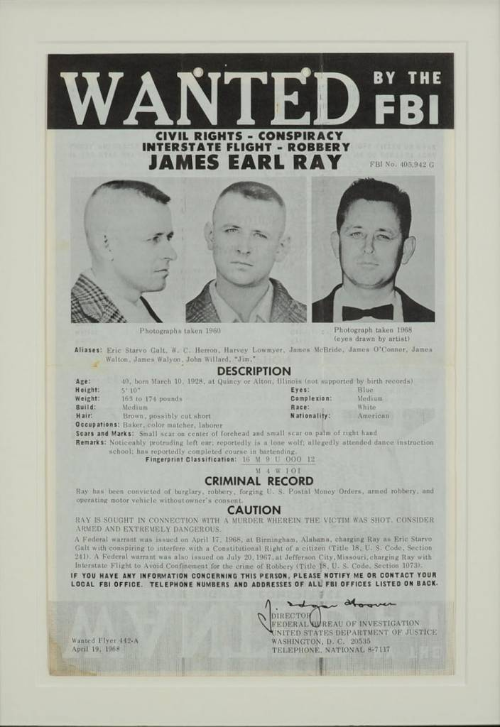 1 James Earl Ray Wanted poster - Flashbak