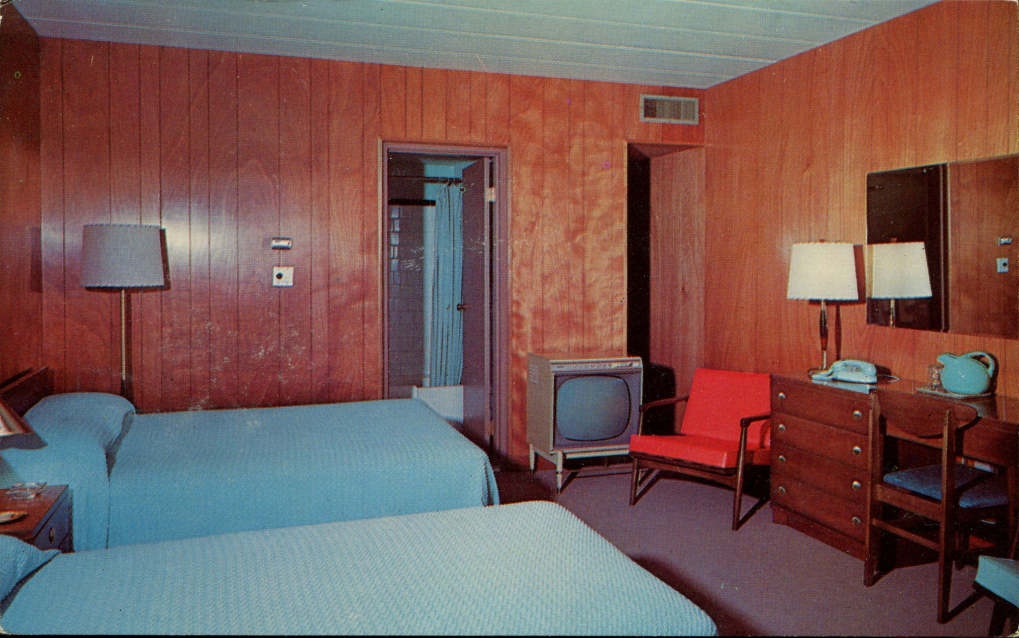 Retro Bed Postcards Of Mid-century Motel Rooms With Style - Flashbak