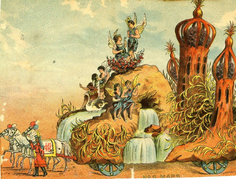 Dänisch Design Mardi Gras Floats Of 1896: The Mystic Krewe Of Comus