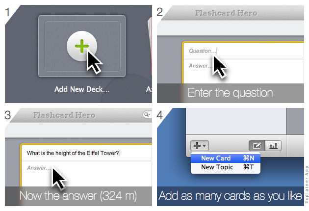 How to make your own flashcards