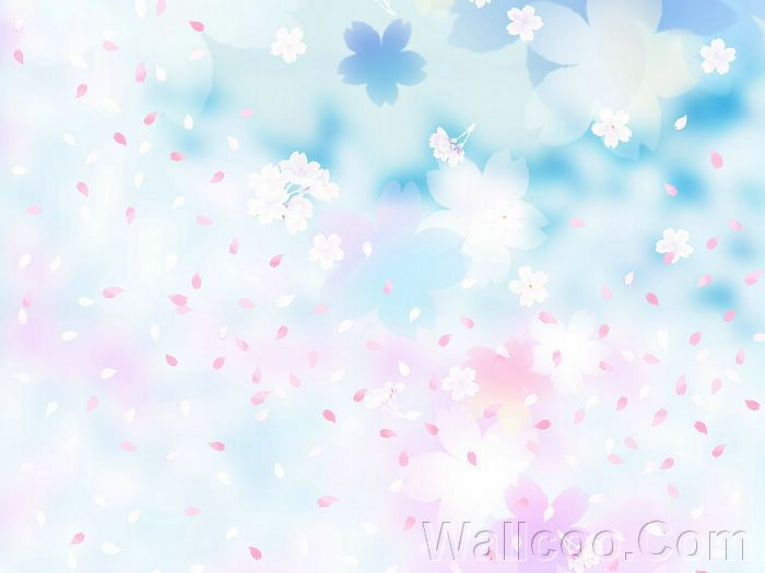 Background Pastel Biru Sweet & Dreamy Flowers Background (1920+1600 ) 4 - Wallcoo.net
