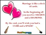 Deck Of Cards Funny Marriage Quotes