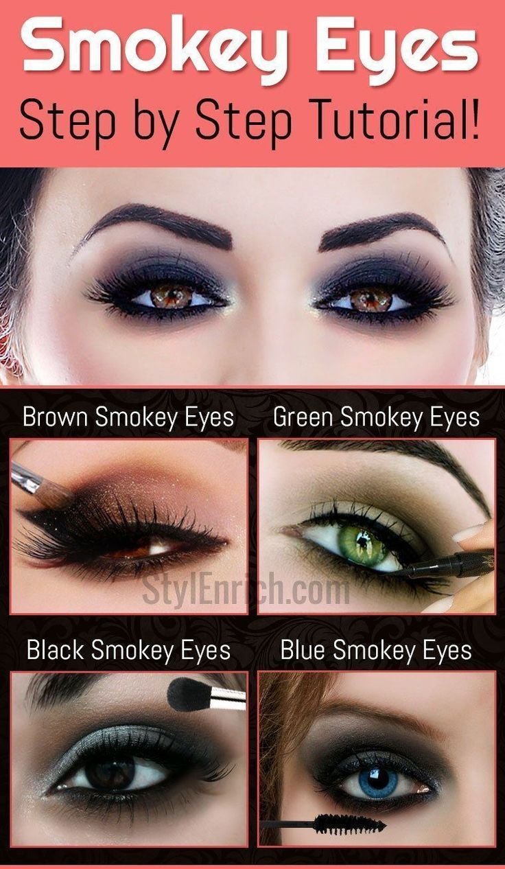 Smokey Eyes Makeup Eye Makeup Smokey Eyes Makeup Step By Step Tutorial For