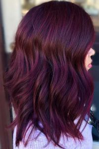 Hair Color 2017/ 2018 - Check out these gorgeous burgundy ...