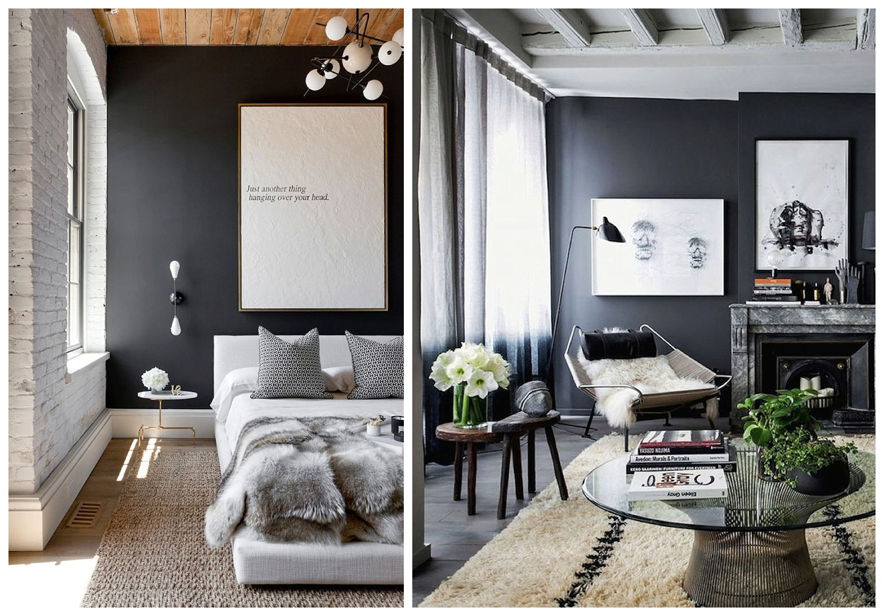 Decor For Gray Walls How To Rock Dark Grey Walls Flat 15 Design And Lifestyle