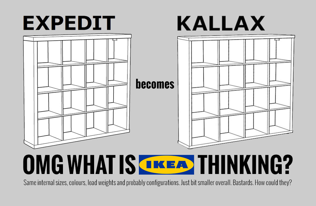 Kallax Expedit Latest News - Ikea Expedit Shelving Gets Shelved. | Flat
