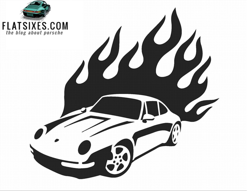 Porsche 993 Pumpkin Carving Template FLATSIXES