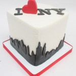 I Love New York city skyline cake