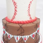 two tier baseball cake