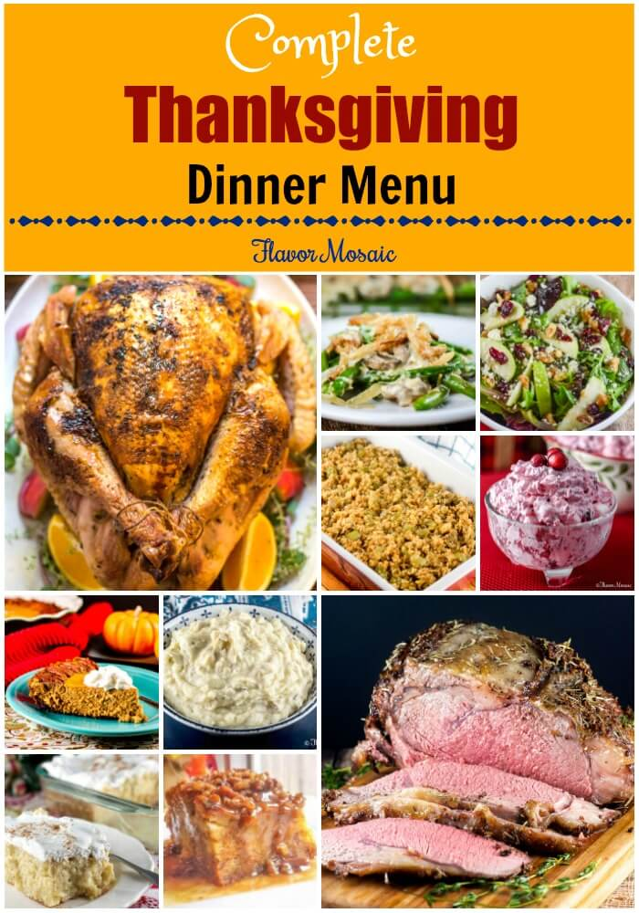Thanksgiving Dinner Menu {With Recipes} - Flavor Mosaic