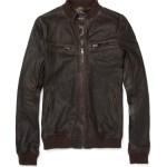 Dolce & Gabbanna Sheepskin Blend Leather Jacket